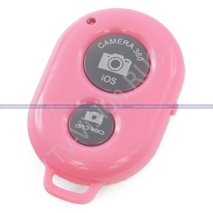 Кнопка для селфи Bluetooth Remote Shutter Camera 360 Pink